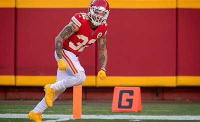 Tyrann Mathieu marschiert in der Defense der Kansas City Chiefs mit Enthusiasmus voraus.